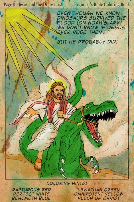 From The Beginner's Bible Coloring Book Observations: